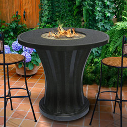 California Outdoor Concepts - Rodeo Fire Pit Balcony Table - Great table for a high end outdoor restaurant that wants to add some unique ambiance for their customers.