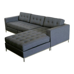 Gus Modern - Jane Bi-Sectional, Urban Tweed Ink - Jane Bi-Sectional by Gus Modern. Deep, generous seat cushions provide plenty of room for sink-down comfort -- once you take a sea, you may never want to get up.