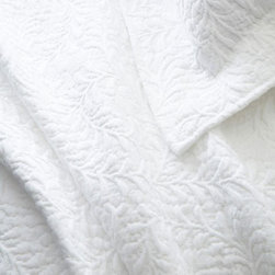 Pine Cone Hill - scramble matelasse coverlet (white) - Make a statement with intricately stitched branches that twine over this soft cotton matelasse coverlet.��This item comes in��white.��This item size is��various sizes.