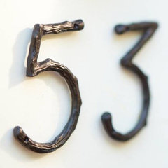eclectic house numbers by Pottery Barn