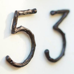 Branch House Numbers - These house numbers are so simple, rustic and classic that they'll fit on just about any style home.