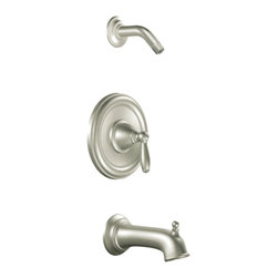 Moen - Moen T2153NHBN Positemp Tub/Shower Trim Brushed Nickel - Moen T2153NHBN Brantford Positemp Tub/Shower Trim - Brushed Nickel