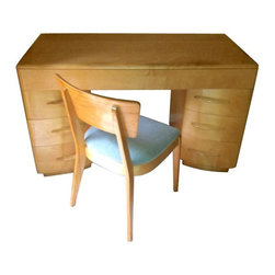 SOLD OUT!  Heywood Wakefield Kneehole Desk & Chair - $1,700 Est. Retail - $1,250 -