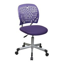 Office Star - Office Star Designer Task Chair in Pink Fabric and Plastic Back - Features: