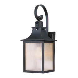 Savoy House - Savoy House 5-258-25 Monte Grande Wall Mount Lantern - Our extremely popular Monte Grande design is now available in this new Slate finish with Pale Cream Seeded glass.