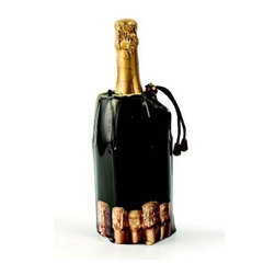 Franmara - Black Rapid Ice Champagne Chiller Bag With Cork Pattern Trim - This gorgeous Black Rapid Ice Champagne Chiller Bag with Cork Pattern Trim has the finest details and highest quality you will find anywhere! Black Rapid Ice Champagne Chiller Bag with Cork Pattern Trim is truly remarkable.