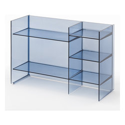 Kartell - Kartell Sound-Rack - This small shelf can take on many forms, be used in many ways and can be stacked, lending itself to the creation of various geometric and colour compositions. It can function both as a container cabinet and as a divider. A nomadic piece that can fit easily into any corner of the bathroom. Manufactured by Kartell.