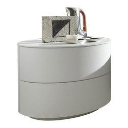 Rossetto - Moon White Nightstand by Rossetto USA - Features: