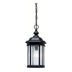 Kichler Lighting - Kichler Lighting 9810BK Kirkwood 1 Light Outdoor Pendants/Chandeliers in Black - Outdoor Pendant 1Lt