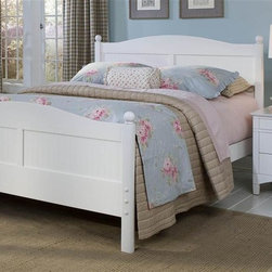 Bolton Furniture - Cottage Queen Bed w Essex Nightstand in White Finish - Includes Cottage queen headboard, footboard and side rails & Essex nightstand. Bed:. Queen size bed. 64 in. L x 85 in. W x 47 in. H. Nightstand:. 3 Drawers. 22 in. W x 19 in. D x 24 in. H. White finish. Assembly required. 1-Year warranty