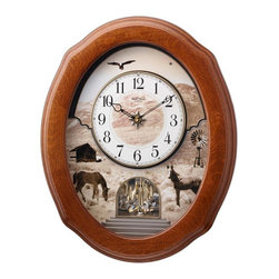 Rhythm - American Prairie Magic Motion clock - The American Prairie is a country style crowd pleaser