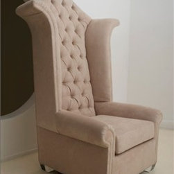 Princess Chair by H Studio - Rule over your domain from the Princess Chair with elegant details including classic tufting and playful curves.