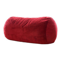 OneUp Innovations, Inc - Jaxx Grand Lounger (7.5 Ft) Foam Beanbag, Microsuede Cinnabar - Kick back & relax in the Jaxx Grand Lounger. This modern, foam filled beanbag adds casual, comfortable seating to your decor. The multifunctional shape can be used as a chair, a lounger or a Sofa replacement. Not surprisingly, it also works wonderfully as a bed for dorm rooms and spare rooms. Finally, your spare room can be used year around as a game room, play room and more. The shredded high-density foam filling provides cushiony support in any position. The Jaxx Grand Lounger molds to your every move, whether you are watching TV, browsing the internet or reading your favorite book. Seats up to three adults comfortably, adding a fouth is a bit cozy. Available in several designer fabrics and colors to blend in both modern and casual settings. Great for apartments, lofts and dorms! Approximately 7.5 ft x 3 ft x 3ft in size. Weighs up to 90 pounds. Made with 100% recycled/shredded furniture grade urethane foam filling. Covers zip-off for machine washing. Shipped compressed under vacuum to save on freight. Some assembly required. Please follow included instructions or view the assembly video online. All of the fabrics used for Jaxx products are designed to hold up to normal wear and tear for furniture. Microsuede is a durable, entry level fabric. It is lightweight, has virtually no fiber depth, and feels smooth to the touch. Microsuede is machine washable (tumble dry low). Velvish is our mid-range fabric. The Velvish is a denser, higher fiber compared to Microsuede. This results in a noticably softer feel. Pebble is our premium fabric featuring a more dense and slightly higher fiber than Microsuede, but not as high as Velvish. What sets the Pebble fabric apart from the others is the miniature cobblestone patterned texture cut into the fabric which adds visual flare to the fabric. All three fabrics are machin washable on cold setting and can be tumbled dried on low heat.