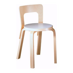 "Artek - Artek Children's Chair N65 - Redefine ""sitting pretty"" for your little ones with this super cool children's chair. The streamlined Scandinavian design will look beautiful in your home, but the proportions are just right for kids. Is it ever too early to start teaching good taste? We don't think so!"