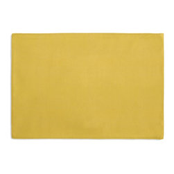 Yellow Fine-Woven Linen Custom Placemat Set - Is your table looking sad and lonely? Give it a boost with at set of Simple Placemats. Customizable in hundreds of fabrics, you're sure to find the perfect set for daily dining or that fancy shindig. We love it in this mustard yellow soft lighweight linen blend with the finest texture.