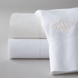 Matouk - Two King Pillowcases Monogrammed - MatoukTwo King Pillowcases MonogrammedDesigner About Matouk:The son of a jeweler John Matouk understood the principles of fine workmanship and quality materials. After studying fine fabrics in Italy he founded Matouk in 1929 as a source for fine bed and bath linens. Today the third generation of the Matouk family guides the company whose headquarters were relocated to the United States from Europe during World War II. Matouk linens are prized worldwide for their uncompromising quality and hand-finished detailing by skilled craftsmen.