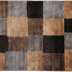 Moda Area Rug - Warm, rich colors make this rug perfect for a family room or media room.  Darker colors are also great for hiding those pesky stains.