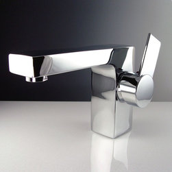 Fresca - Isarus Single Hole Mount Bathroom Faucet in C - Ceramic Disc Valve. Finish: Chrome. 1/2 in. - 14 NPS Connection. Single Hole Faucet Mount. All Mounting Hardware Included. Product Material: Brass. Spout Height: 3.88 in. . Spout Reach: 6 in. . 3.25 in. W x 7 in. D x 5 in. HThis single hole faucet is made from heavy duty brass with a chrome finish. Features ceramic disc valve for longevity and watertight functionality.
