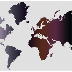 "Studio Map Mural - Dark Purple & Grey Gradient - Peel & Stick - 1 Panel - 87"" x - From our studio collection, decorative map themed prints in huge wall mural sizes. Instant color or texture to any room!   The peel and stick material goes up in seconds, is repositionable, and will not damage walls when removed. The finely woven fabric material will not wrinkle or bubble, and will stay put for years. This is an ideal material for dorm rooms and apartments where permanent modifications to walls are forbidden. Instantly add color and visual texture to your room with one of these easy to hang, map themed wall coverings. (Note that due to the flexibility and nature of the thin fabric material, uneven wall surfaces may show texture through the material. For best results apply to a smooth surface.)  Single panel murals come as a single sheet & are intended for one or two people to apply.  Studio Map Murals are made to order & are not returnable once opened.  Please allow two weeks for delivery.  Express shipping not available."
