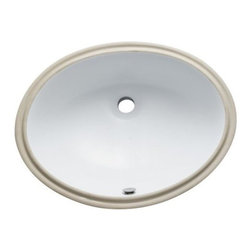 Kingston Brass - Courtyard White China Undermount Bathroom Sink with Overflow Hole LBO22178 - Finest china material made under mount sink is perfect way to bring a bright new look to your bathroom.. Manufacturer: Kingston Brass. Model: LBO22178. UPC: 663370099205. Product Name: Kingston Brass White China Undermount Bathroom Sink with Overflow Hole. Collection / Series: Courtyard. Finish: White. Theme: Contemporary / Modern. Material: Ceramic. Type: Sink. Features: High chemical and thermal shock resistance