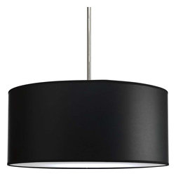 Progress Lighting - Progress Lighting P8824-01 Markor Drum Pendant Light In Black Parchment -