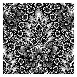 Design Your Wall - Island Rapture Damask, Ink - Wallpaper Tiles - Featured Designs by Astek Inc