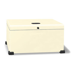 Portland Landport - Landport Essentials Rectangle Lockbox, Cream - Our most fundamental Landport is also our most versatile, and works well in horizontal areas.