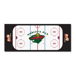 Fanmats - NHL Minnesota Wild Hockey Rink Accent Runner Rug - Features: