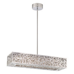 George Kovacs - George Kovacs P984-077-L Hidden Gems LED Island Chandelier - - Features Crystal Necklace Droplets