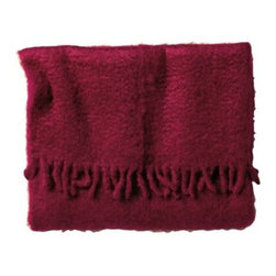 Serena & Lily - Merlot Mohair Throw - We first spotted these luscious blankets at a market in Paris and had to know the story. We learned that they�۪re made at a family-run mill in Spain that�۪s been operating since 1930. Woven by hand from only the finest mohair, each blanket is first spun on a large shuttle loom, then combed for a fabulously slubby feel and finished with a beautiful twisted fringe. So dense and warm, you�۪ll want one on every sofa and bed. (Side note: Makes an amazing gift for someone special.)