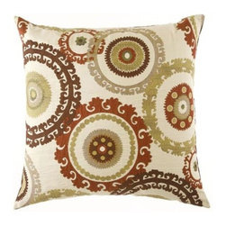 D.V. KAP Home - Taraz Teak 24 x 24 Decorative Pillow - -24x24 zippered removable cover  -Comes with Feather/Down insert  -Spot or dry clean D.V. KAP Home - 2060-T