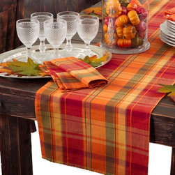 None - Harvest Design Table Runner or Set of 4 Napkins - Harvest design table linens. These runners and napkins add the perfect touch to any harvest table.