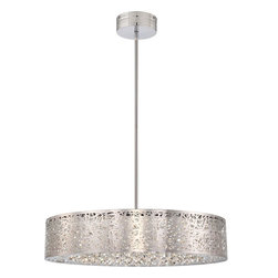 George Kovacs - George Kovacs P986-077-L Hidden Gems LED Drum Pendant - - Features Crystal Necklace Droplets