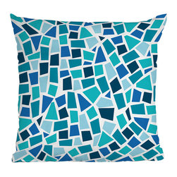 DENY Designs - DENY Designs Khristian A Howell Baby Beach Bum 6 Throw Pillow - Marvelous Mosaic. If you're feeling a little artsy, the DENY Designs Khristian A Howell Baby Beach Bum 6 Throw Pillow is a great way to add color and texture to you space. With a bright blue mosaic design, this throw pillow can be paired with solids, or for a really bold statement, group with other patterns in the same color family. Like all textile products from DENY Designs, the Khristian A Howell Baby Beach Bum 6 throw Pillow is custom made for each order using a dye printing process where the ink is dyed directly into the fibers of the fabric, keeping pillows fade-resistant and vibrant. An artist's dream!Made in the USACustom print for each orderWoven polyester