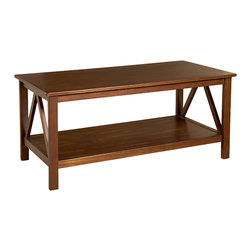 "Linon - Titian Coffee Table - Dimensions:  20"" H x 44"" W x 22"" D"