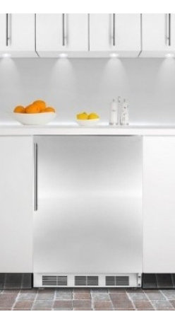 Summit - CT66BISSHVADA 5.1 cu. ft. Capacity ADA Compliant Built-In Refrigerator-Freezer W - SUMMIT39s CT66BIADA series features built-in capable refrigerator-freezers designed to fit under lower ADA compliant counters
