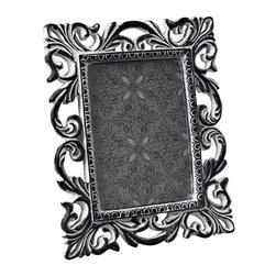 Joshua Marshal - Antique White Scrool Picture Frame - Antique White Scrool Picture Frame