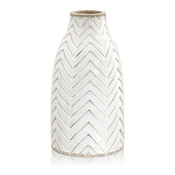 Adra Vase - This vase, even though simple and white, pairs well with bright spring wildflowers. It would be neat to have a few scattered down the center of the table.