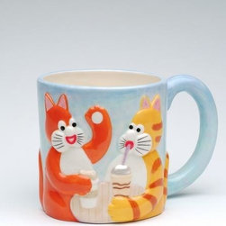 "ATD - 6.88 Inch Multicolored ""Tom's Cats"" Coffee Chat Themed Decorative Mug - This gorgeous 6.88 Inch Multicolored ""Tom's Cats"" Coffee Chat Themed Decorative Mug has the finest details and highest quality you will find anywhere! 6.88 Inch Multicolored ""Tom's Cats"" Coffee Chat Themed Decorative Mug is truly remarkable."