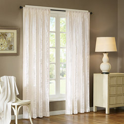 Madison Park - Madison Park Camila 84-Inch Vertical Ruffle Curtain Panel - Vertical mini ruffles create a wonder of surface interest. Made of all cotton-cloth. This panel includes a 3-inch drapery pocket for easy assembly. To hang the panel, simply slide the drapery rod through the rod pocket.