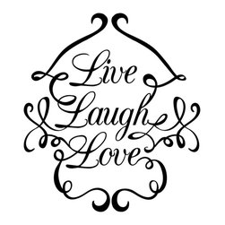 Dana Decals - Live Love Laugh Swirls Wall Decal - Ideal for homes, kids rooms, and schools.