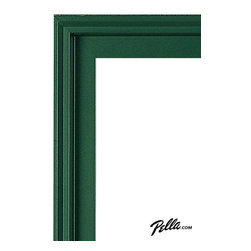 EnduraClad® Exterior Finish in Hartford Green - Available on Pella Architect Series® and Designer Series® wood windows and patio doors, EnduraClad exterior finishes offer 27 standard and virtually unlimited custom color options.