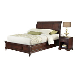 Home Styles - Home Styles Lafayette 3 Piece Sleigh Bed Set-Queen - Home Styles - Beds - 55375020 - An opulence of design heightens the allure of the Lafayette Bedroom collection. Lafayette Sleigh Bed, Nightstand and Chest by Home Styles is inspired by Ancestral traditional design.