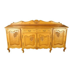 EuroLux Home - Consigned Vintage Louis XV Oak French Country Server - Product Details