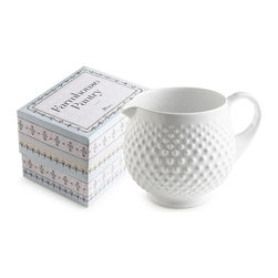 Frontgate - Farmhouse Hobnail Pitcher - Frontgate - Arrives packaged in a gift box. Made of porcelain. Microwave and dishwasher safe. Designed in the USA. Inspired by old-fashioned milk glass, the Farmhouse Pantry Collection is perfect for celebrating the farm-to-table tradition. Excellent for serving fresh food, these staples come in simple, beautiful shapes that will coordinate well with any tabletop decor.  .  .  .  . Imported.