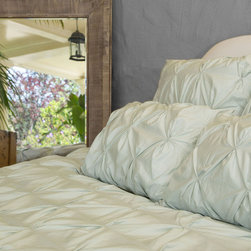 Twin/Twin XL 400 Thread Count Pintuck Duvet Cover, The Valencia Mint Green - Full of volume and elegance, this 400 thread count white pintuck duvet will add textural dimension to subtly bring your room to life.  Multiple pintucks are sewn to perfection. Perfect for a college dorm room, or a kids bedroom!