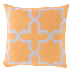 "Surya - Surya RG-012 Striking Star Pillow, 20"" x 20"", Poly Fiber Filler - Like diamonds, the stars splashed across this pillow will sparkle in your indoor or outdoor room! Juxtaposed and painted together against an impeccable yellow backdrop, this piece will become the centerpiece of any space. This 18x18 pillow contains a Virgin Poly Styrene Bead fill providing a reliable and affordable solution to updating your indoor or outdoor decor."