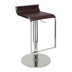 Nuevo Living - Alexander Bar Stool, Brown - Alexander adjustable bar stool is a top notch reproduction of the original design. This modern design makes the stool very versatile and offers height adjustability so you can use it just about anywhere. It will definitely make a statement in your home, office, lounge or wherever you so desire.