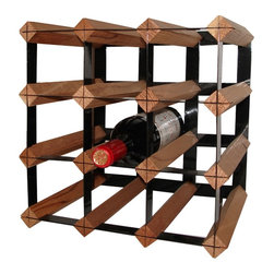 Vinotemp - 12-Bottle Cellar Trellis Wine Rack - Wine cube rack with powder coated trellis. Fits 12 bottles of universal size 3.75 in.. Top row allows for display of three bottles of wine. Perfect size to be portable for use anywhere. Made from wood and metal. Brown finish. 12.5 in. W x 10 in. D x 12.5 in. H (4.5 lbs.). Warranty
