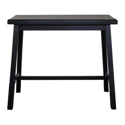 Carolina Cottage - Asian Bar Table w Rubbed Edges - Beautiful 3 step hand finish with rubbed edges for a worn unique look. This bar is as sturdy as it is solid. Easy to clean durable finish. Assembly required. 42 in. L x 22 in. W x 36 in. H (56 lbs.)Our lightly distressed Asian bar table provides extra counter space in a small kitchen and a great place for morning coffee. Its strong, simple lines and compact size make it perfect for areas where floor space is limited.